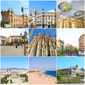 Collage- Beauty Barcelona. — Stock Photo