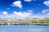 Yacht's in Barcelona sea port. Spain — Stock Photo