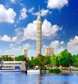 Torre de televisión del cairo. egipto. — Foto de Stock