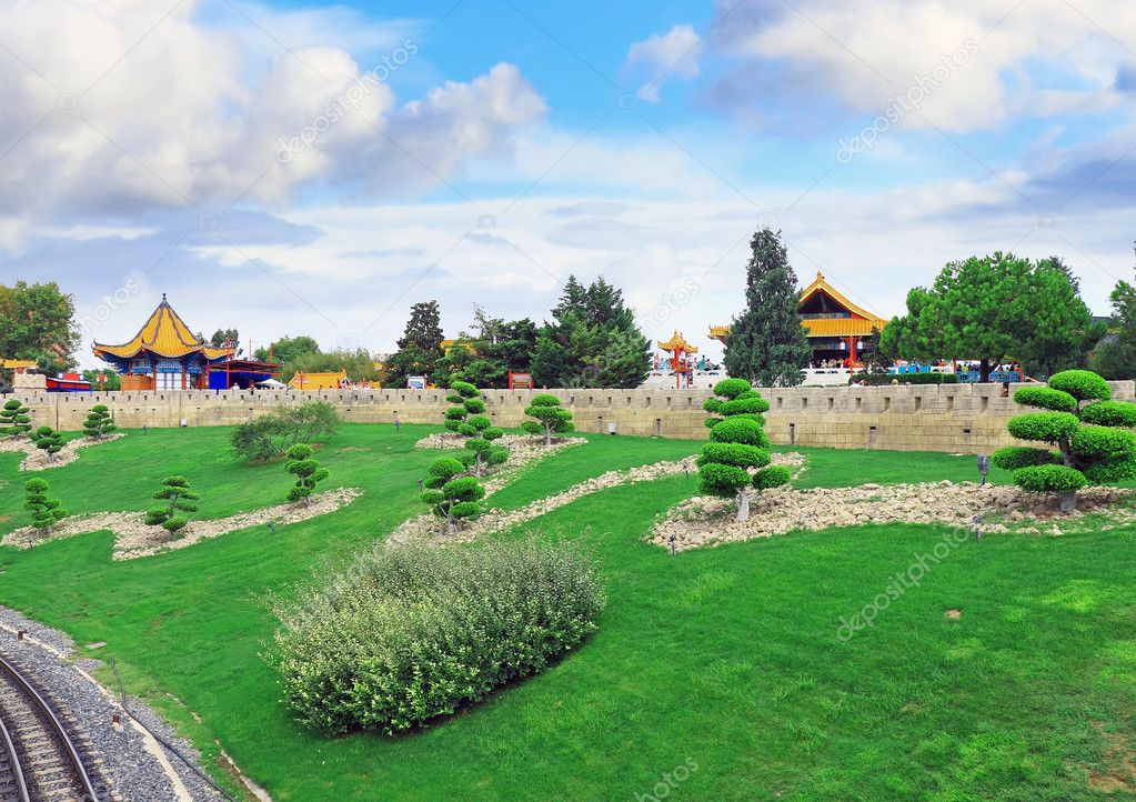 Landscape view of the Chinese park. — Stock Photo #6285686