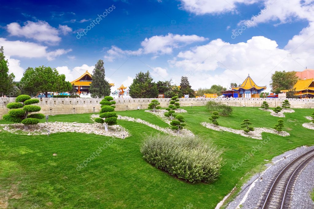Landscape view of the Chinese park. — Stock Photo #6285728