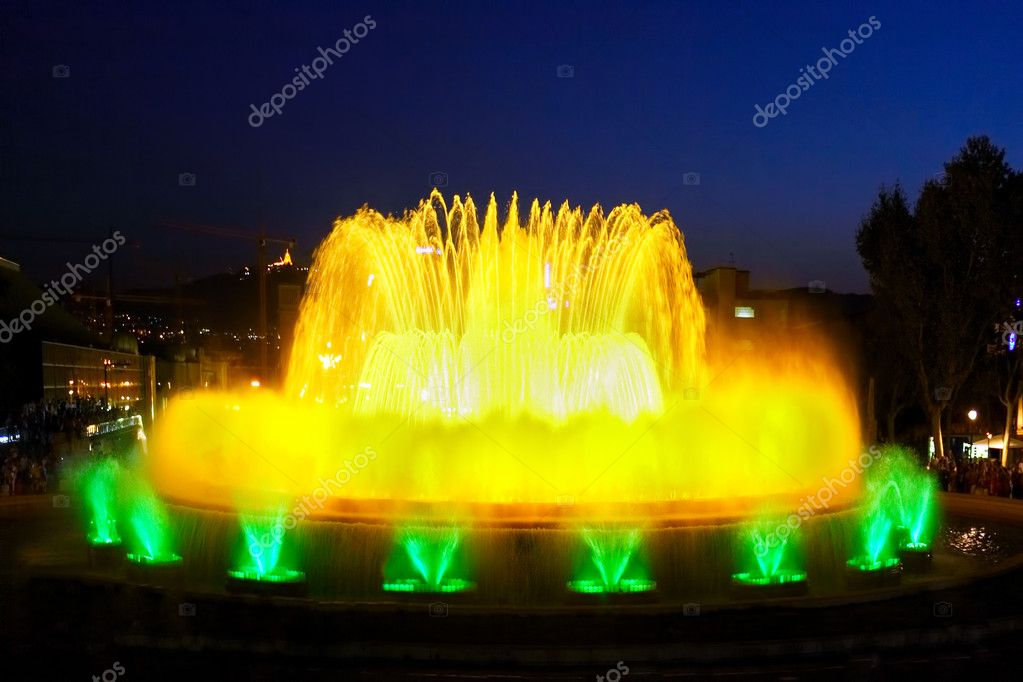 The famous Montjuic Fountain in Barcelona.Spain. — Stock Photo #6285753
