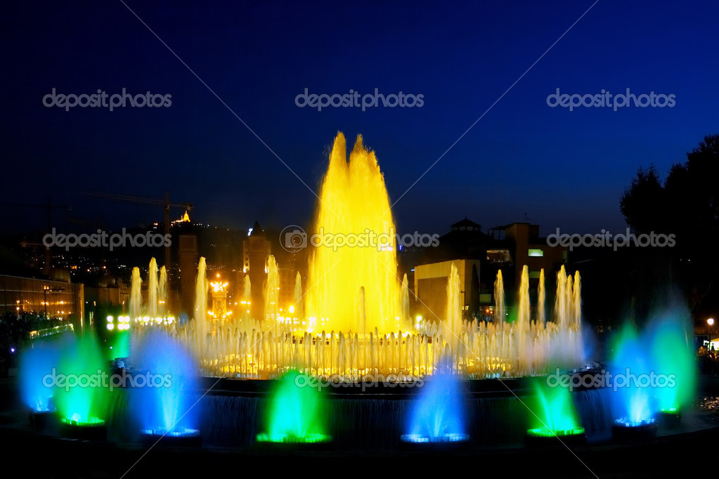 The famous Montjuic Fountain in Barcelona.Spain. — Stock Photo #6285754