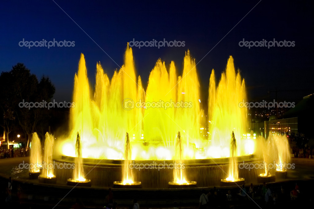 The famous Montjuic Fountain in Barcelona.Spain. — Stock Photo #6285755