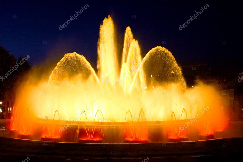 The famous Montjuic Fountain in Barcelona.Spain.  Stock Photo #6285757