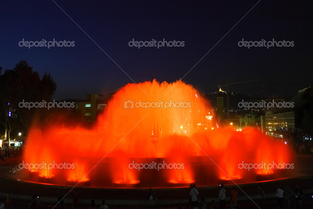 The famous Montjuic Fountain in Barcelona.Spain. — Stock Photo #6285758