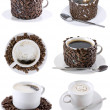 Royalty-Free Stock Photo: Collage of various coffee cups. Isolated