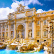 Fountain di Trevi ,Rome. Italy. - Stock Photo
