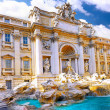 Fountain di Trevi ,Rome. Italy. — Stock Photo