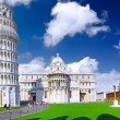 Cathedral, Baptistery and Tower of Pisa. — Stock Photo