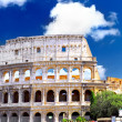 The Colosseum, the world famous landmark in Rome. - Стоковая фотография
