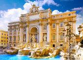 Fountain di Trevi ,Rome. Italy. — Stock Photo