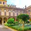 Enclosed court of Uffizi Gallery - Stock Photo