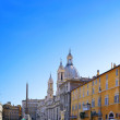 Navona Square, centre of  Rome, Italy. - Stock Photo