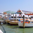 Marine moorage , sea port in Venice. - Stock Photo