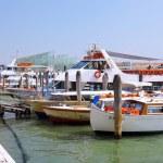 Marine moorage , sea port in Venice. — Stock Photo