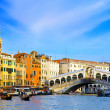 Beautiful street,Grand Canal in Venice, Italy - Stock Photo