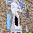 Michelangelo's replica David . Florence, Italy — Stock Photo