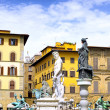 Neptun fontain, Florence, Italy - Stock Photo