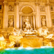 Fountain di Trevi .Night scene. Rome — Stock Photo #6361087