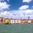 Seaview of Venice, Italy . Panorama - Stock Photo