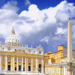 St. Peter's Basilica, Vatican City.  Italy - Stock Photo