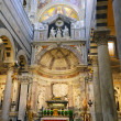Interior of cathedral Duomo in Pisa, Italy - Stock Photo