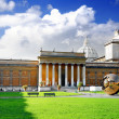 Stock Photo: Enclosed court Gallery's of Vatican, Rome