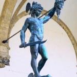 Statue of Perseus slaying Medusa. Florence — Stock Photo