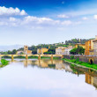 Arno river in Florence,Tuscany, Italy. Panorama - Stock Photo