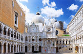 Enclosed court of San Marco,Venice, Italy — Stock Photo