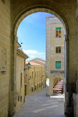 Arch in Republic of San Marino,Italy — Stock Photo