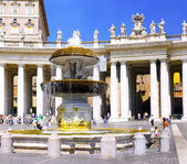 St. Peter's Square,, Vatican City. Italy — Stock Photo