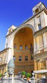 Enclosed court with cone Gallery's of Vatican — Stock Photo