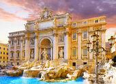 Fountain di Trevi ,Rome. Italy. — Foto de Stock