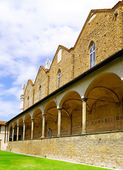 Enclosed court of Basilica Santa Croce ,Florence — Stock Photo