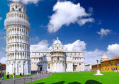 Cathedral, Baptistery and Tower of Pisa. — Foto de Stock