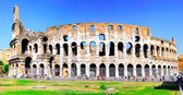 The Colosseum, the world famous landmark in Rome. — Stock Photo