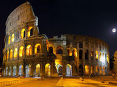 Le colisée, rome. vue de nuit — Photo