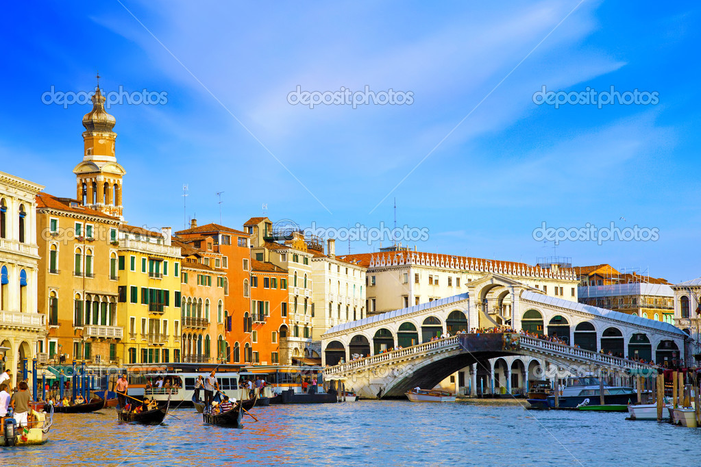 Beautiful water street - Grand Canal in Venice, Italy — Stock Photo #6361047