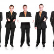 Collection of businessmans in various condition. — Stock Photo