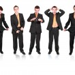 Collection of businessmans in various condition. - Stock Photo