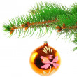 Royalty-Free Stock Photo: Christmas decoration-glass ball on fir branches.