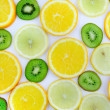 Background texture-fruit mix. Isolated. - Stock Photo
