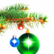 Christmas decoration-glass ball on fir branches. — Stock Photo #6513678
