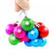 New Year decoration-balls. Isolated — Stok fotoğraf