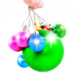 New Year decoration-balls. Isolated — Stock Photo #6513681