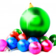 New Year decoration-balls. Isolated — Stock Photo