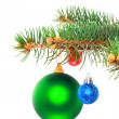 Christmas decoration-glass ball on fir branches. — Stock Photo #6513707