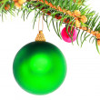 Christmas decoration-glass ball on fir branches. — Stock Photo #6513713